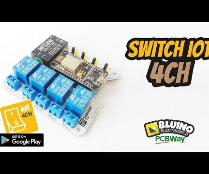 SwitchIoT 4CH - Online 4 Channel Relays Wifi Switch NodeMCU ESP8266