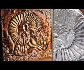How to Make Embossed Painting | Metal Art