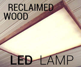 Reclaimed Wood LED Lamp