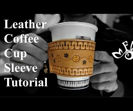 Customizable Leather Coffee Cup Sleeve