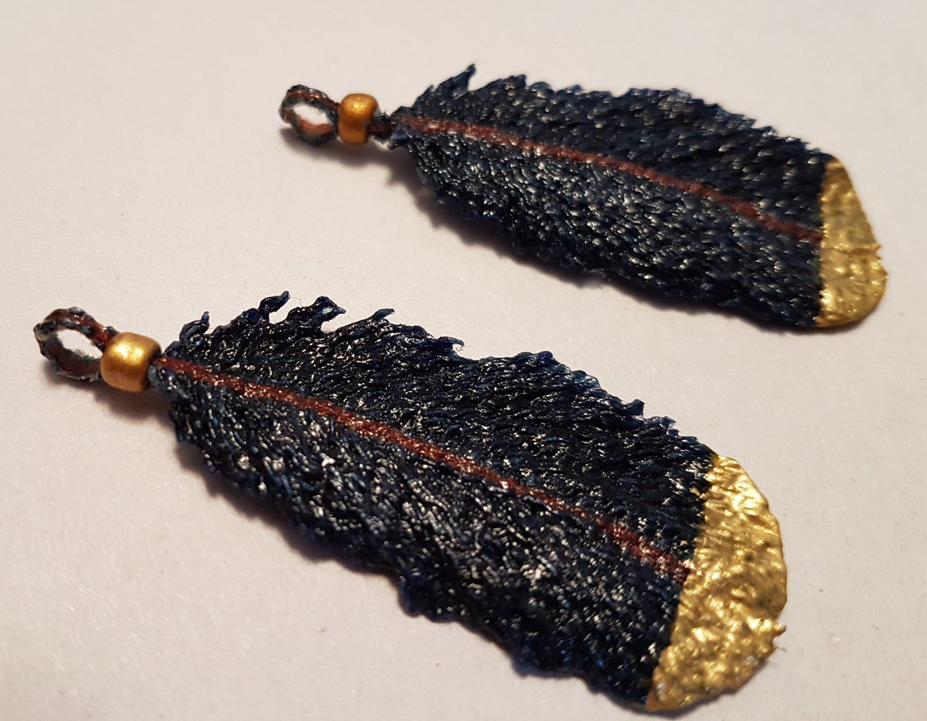 Adding Beads and Forming Loops on Feathers