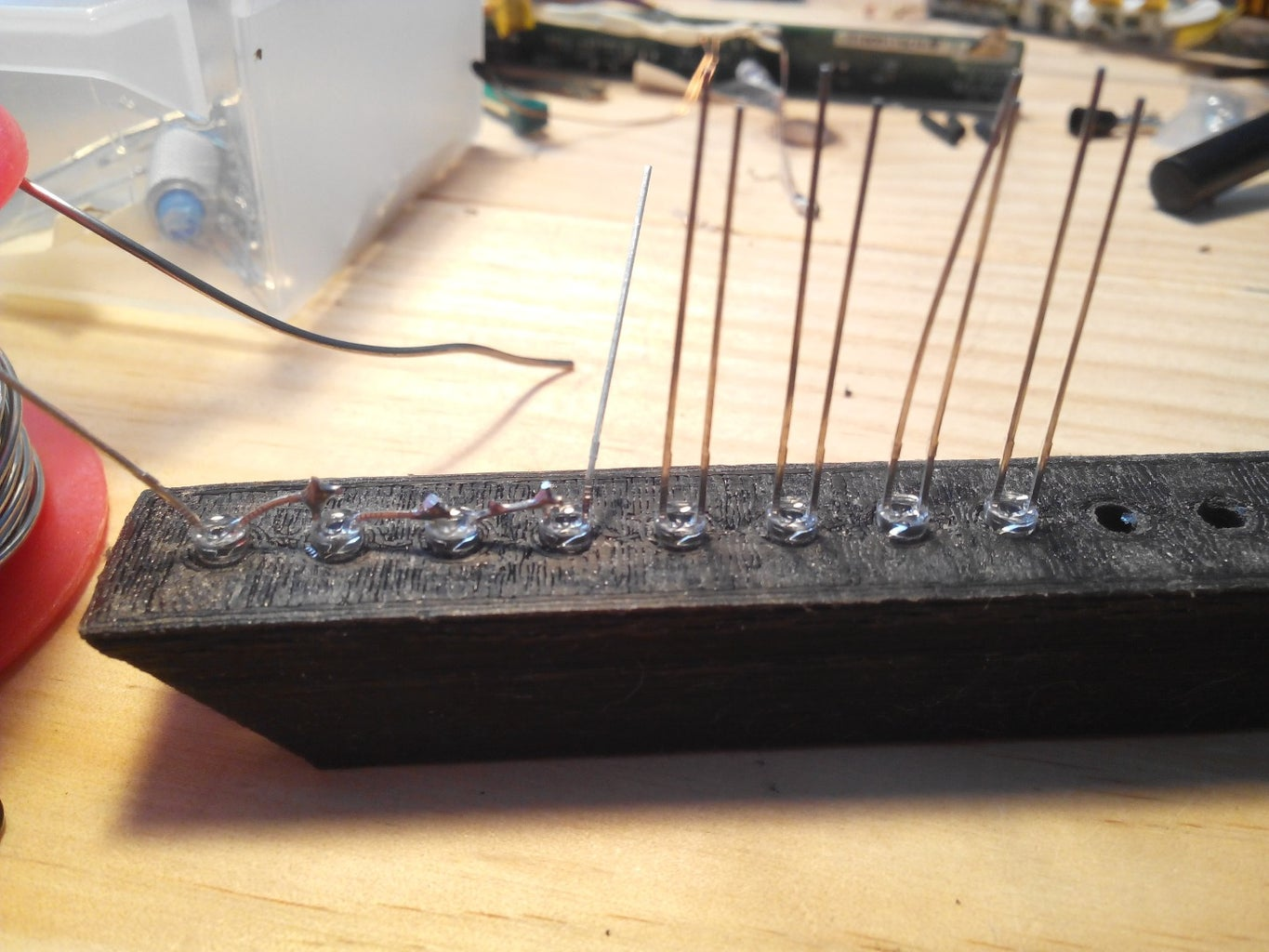 Wiring the Leds and Assembly