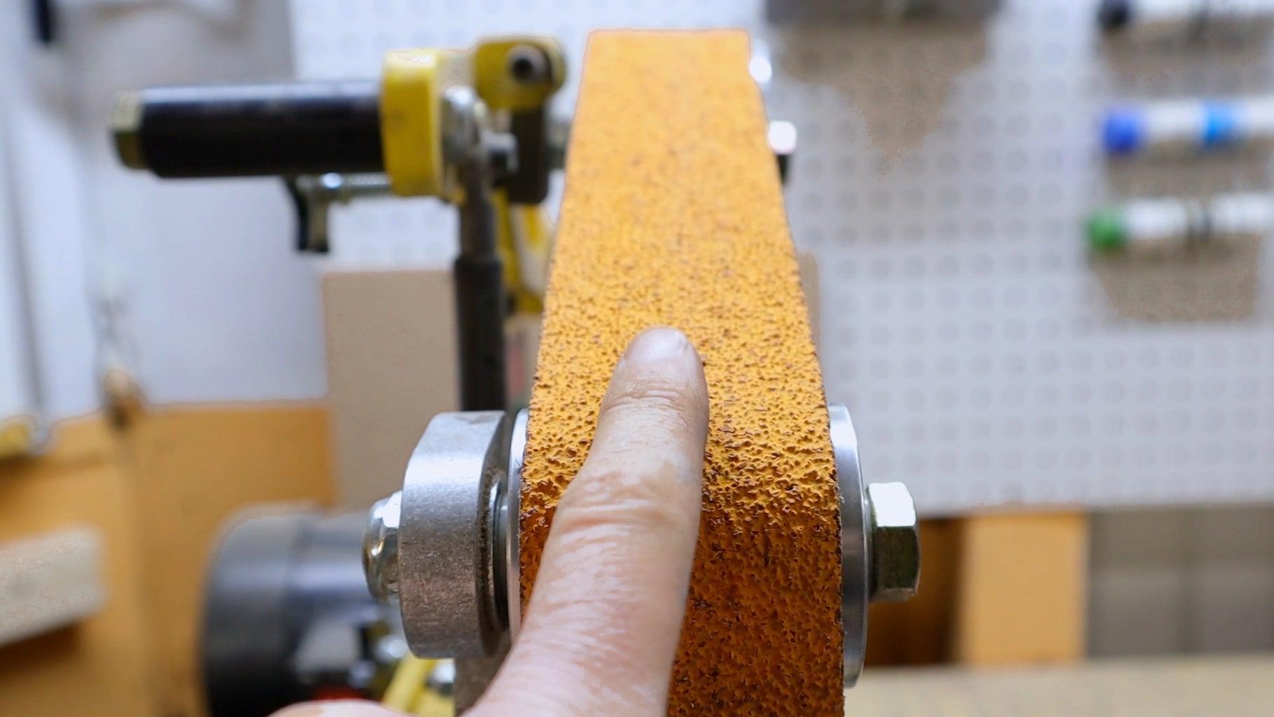 Grinding the Steel.