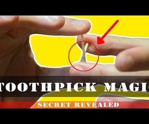 Magic Tricks -  the Penetrating Toothpick Trick Revealed