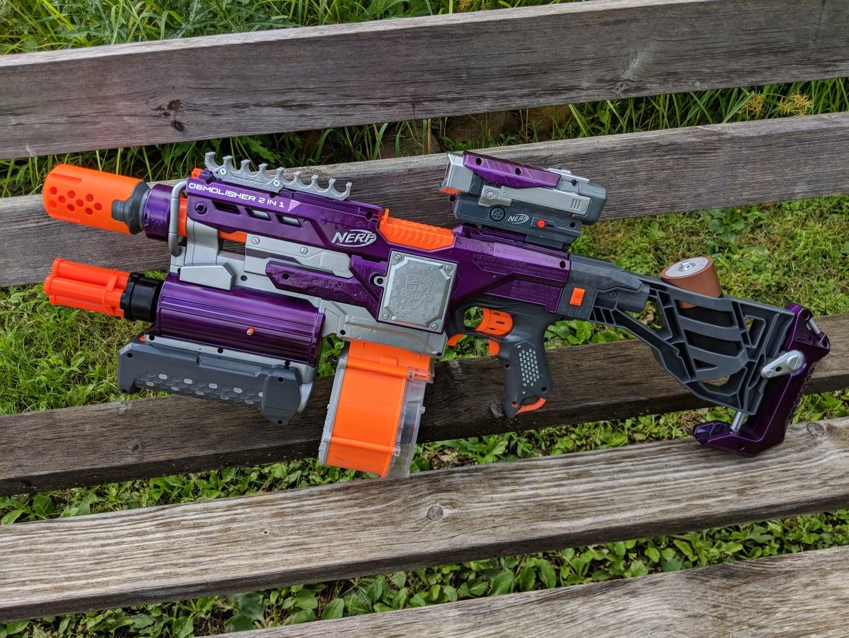 Nerf Demolisher With Integrated Shotgun