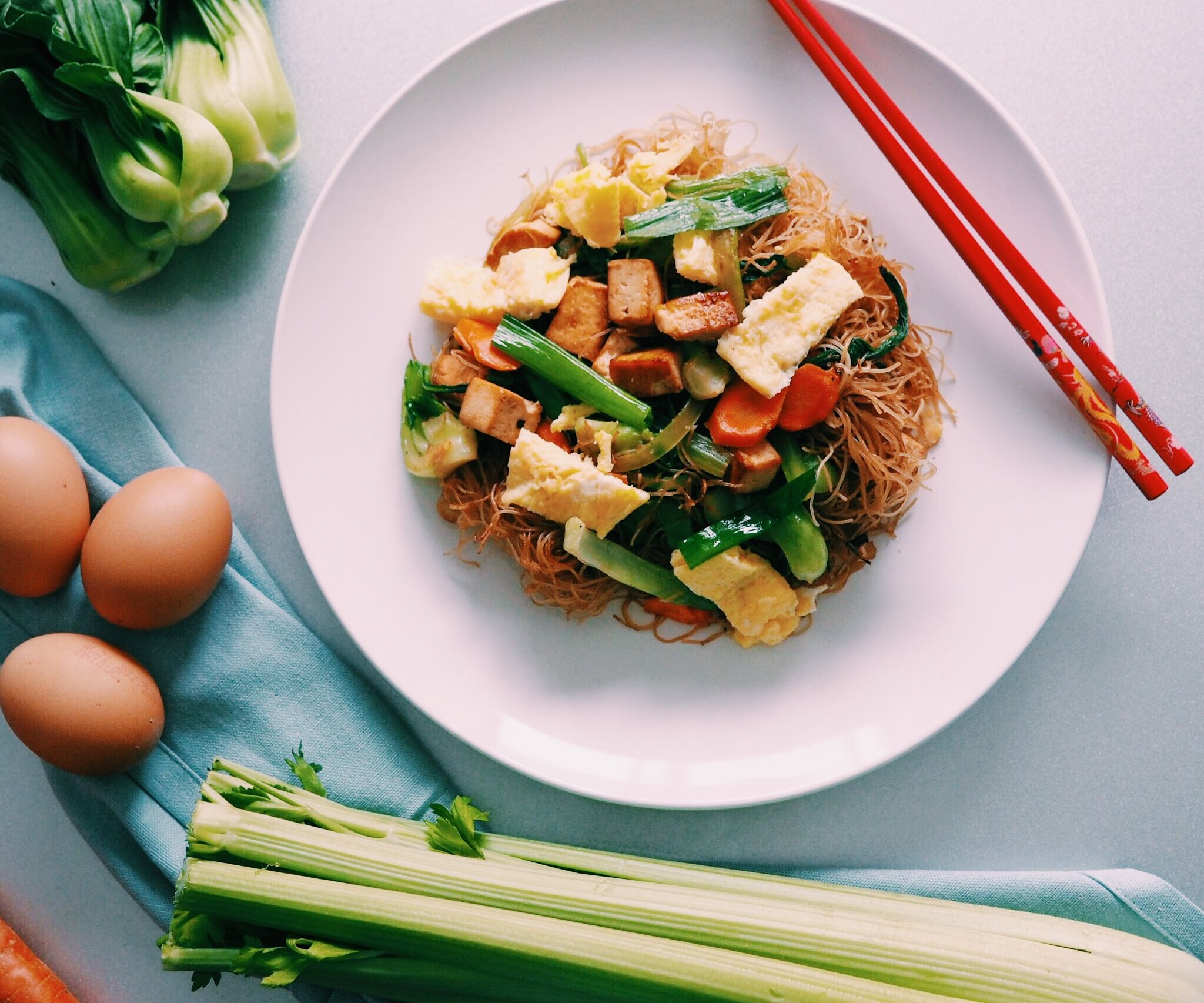RECIPE | FRIED VEGGIE VERMICELLI WITH EGG