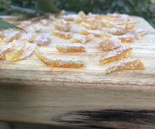 Candied and Coated in Sugar Yuzu Peels