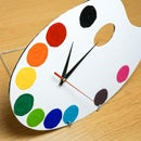 DIY Paint Palette Clock | Simple & Fun Art Themed Project