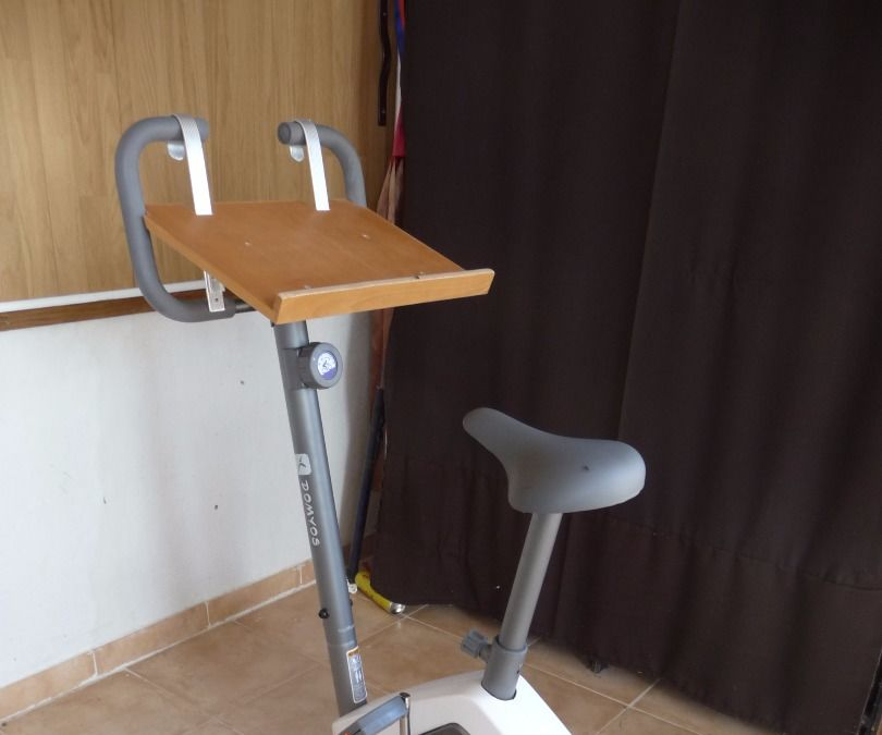 Worxercise! Exercise Bike With Laptop Holder