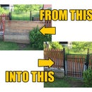 Restoring and Fitting an Old Gate Into an Empty Space in the Fence