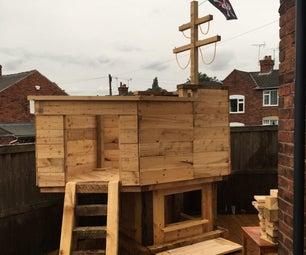 DIY Pirate Ship Playhouse