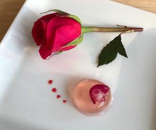 分子rosé球体用覆盆子凝胶