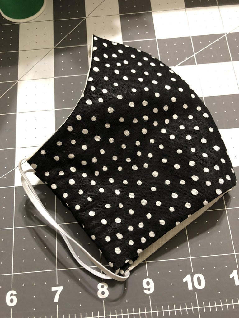 Once the Sides Are Sewn, Place the Elastic Through Each Side to Create the Ear Piece.