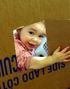 Cardboard Box Playhouses