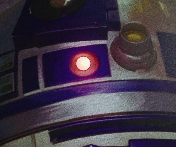 Light-Up R2D2 Star Wars Poster