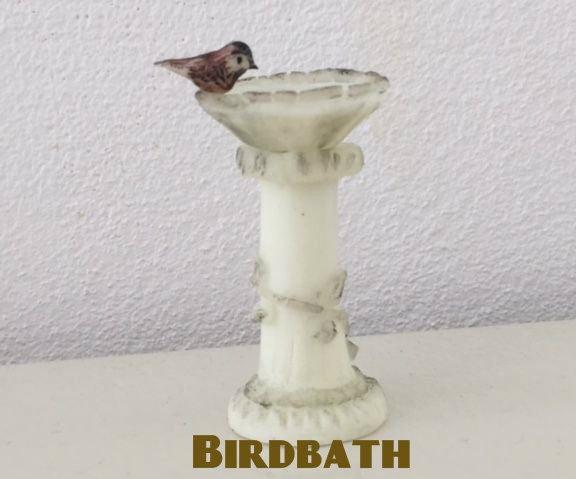 1:12 Scale Birdbath With Polymer Clay