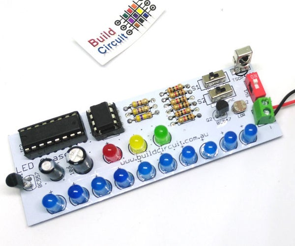 NE555 and CD4017 Based LED Chaser With Photoresistor and Infrared Sensor