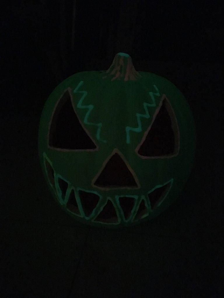 Reverse Glowing Jack-O-Lantern