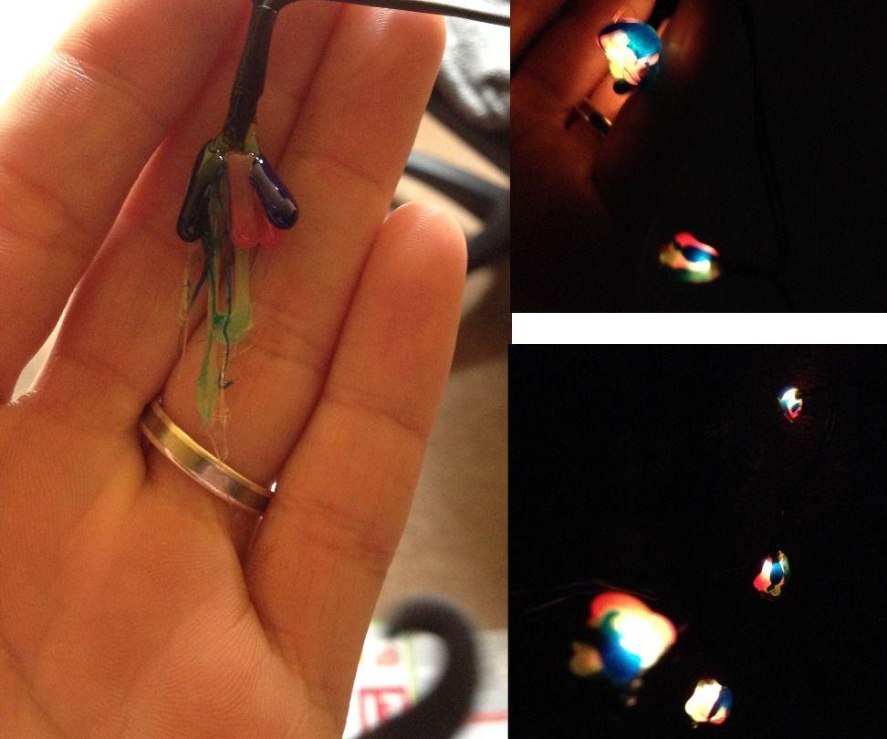 Hot Glue Fairy lights