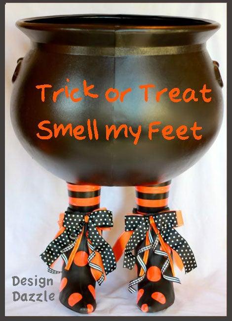 Boot-i-licious Halloween Cauldron
