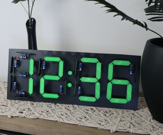 Mechanical Seven Segment Display Clock