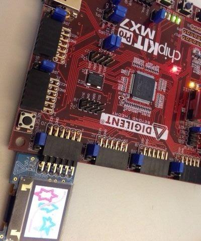 Programming the PmodOLEDrgb on the ChipKIT Pro MX7