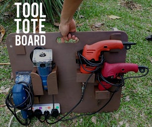 Portable Outdoor Workshop - Power Tool Tote Board