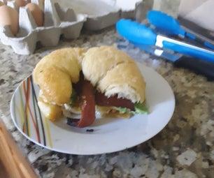 The Hearty Breakfast Croissant Sandwich
