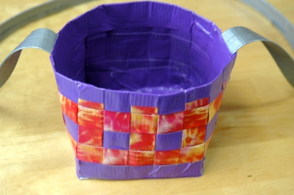 Woven Duct Tape Berry Picking Basket