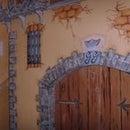Painting castle children room