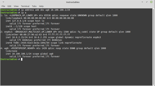 Add IP Address to Wg0 Interface