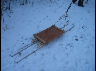 How to Make a Sled Out of Old Snow Skis