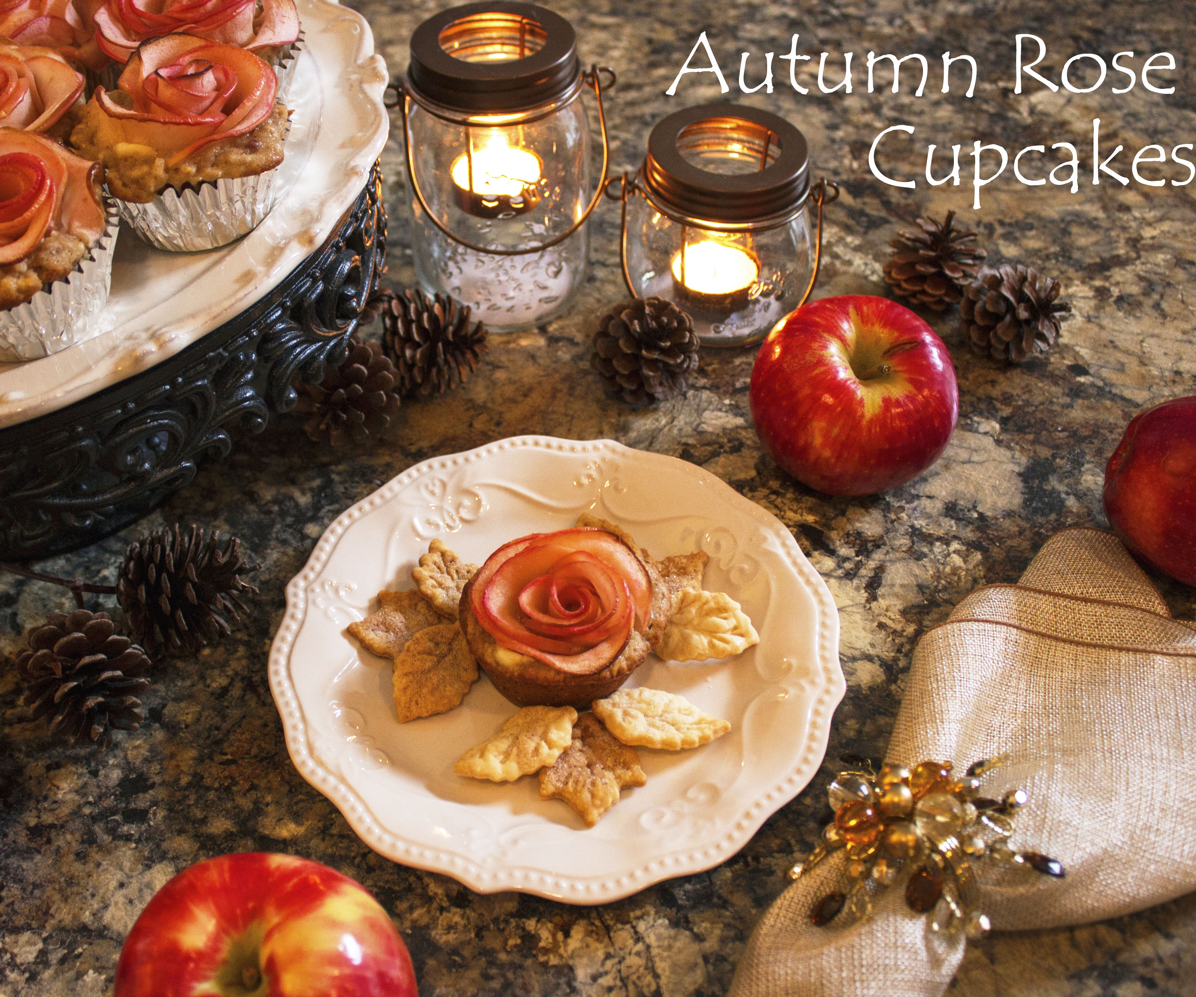 Autumn Rose Cupcakes