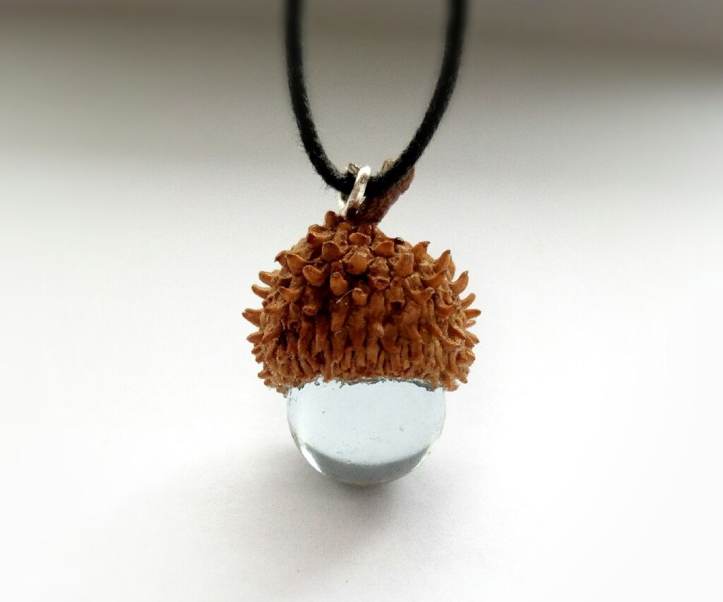 Glass Acorn Pendant