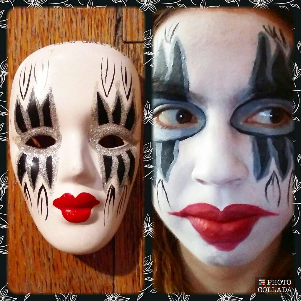 New Orleans Porcelain Mask Face Paint