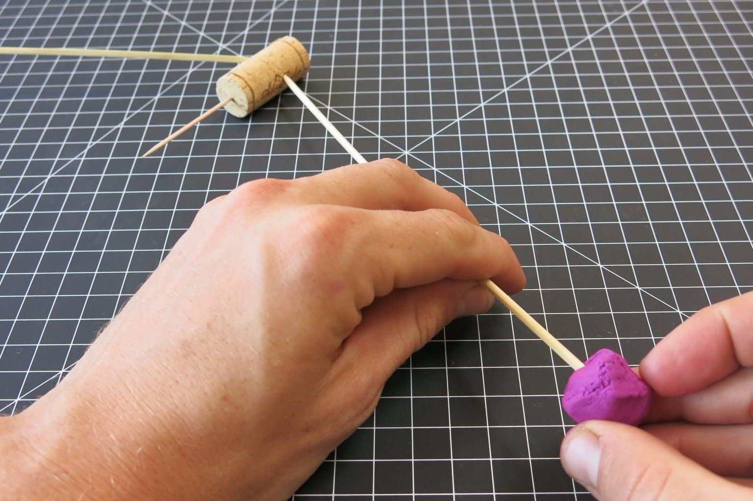 Insert Sticks and Add Clay!