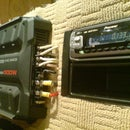 Wiring a car audio amplifier and headunit up indoors using PC power supply