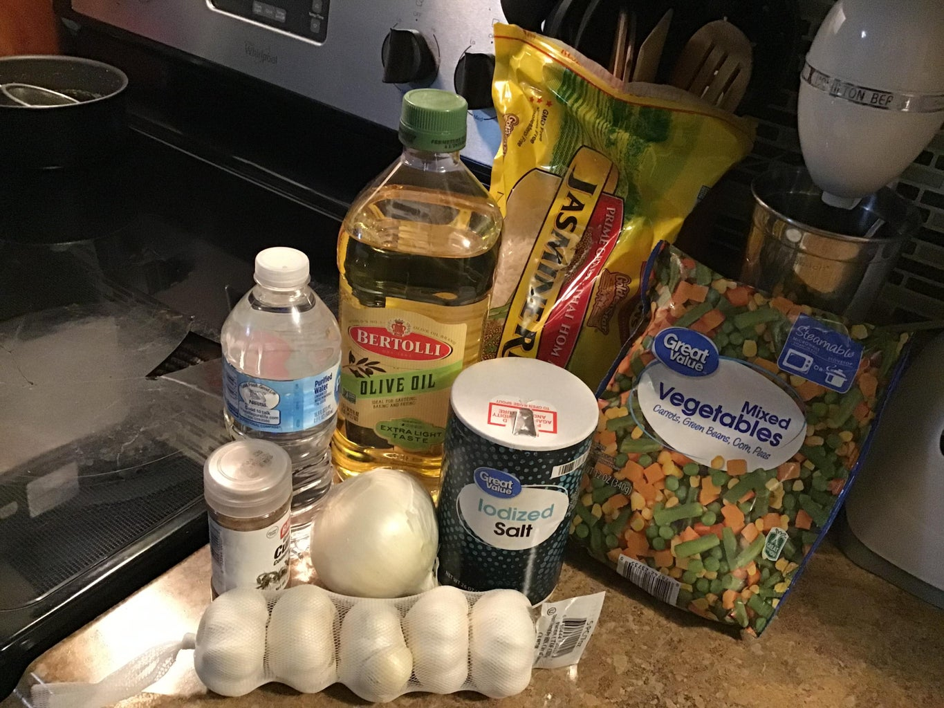 Gather Ingredients for Your Rice