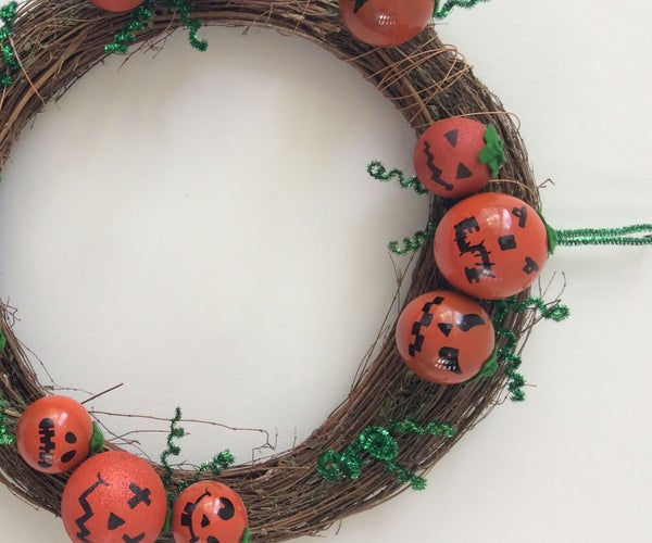 Funny Pumpkin Wreath