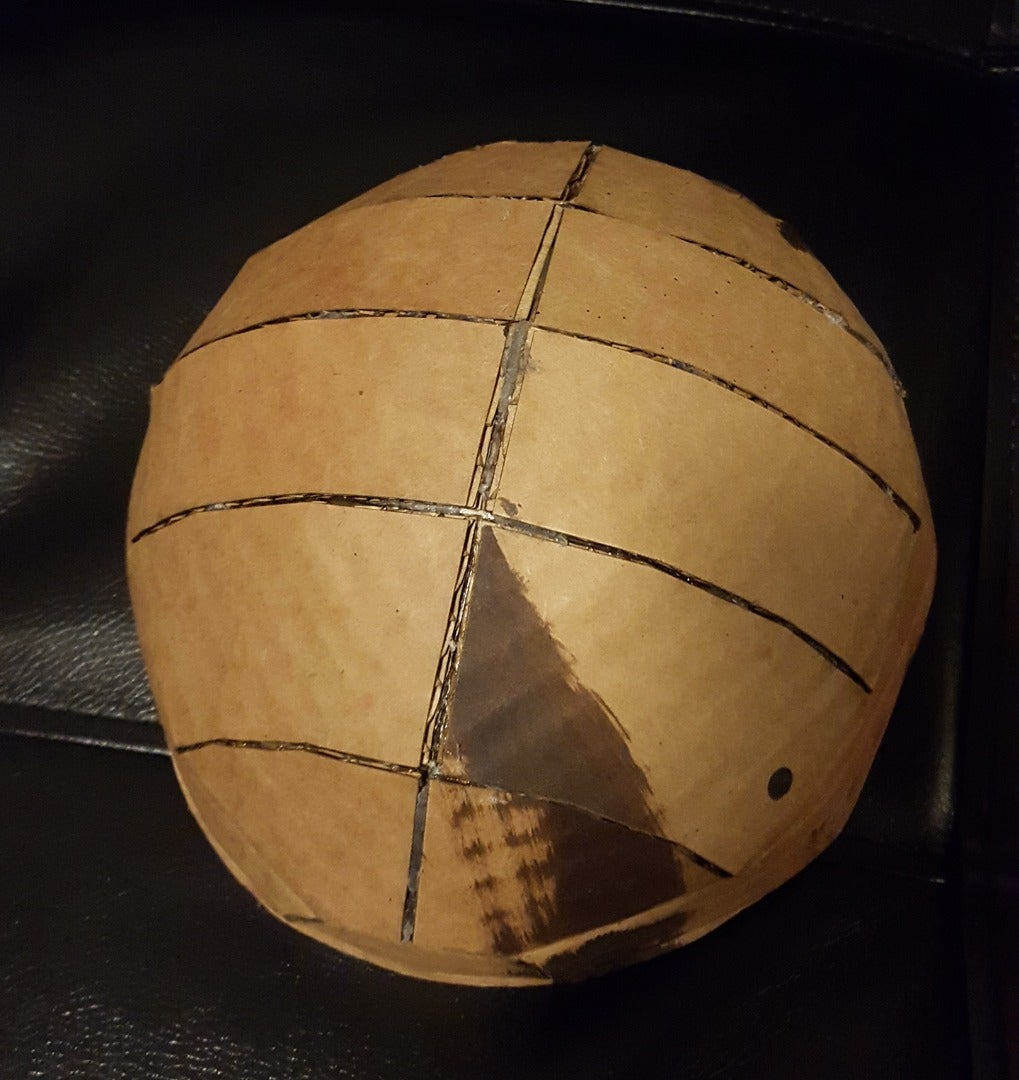 Fold and Glue the Helmet's Top Dome