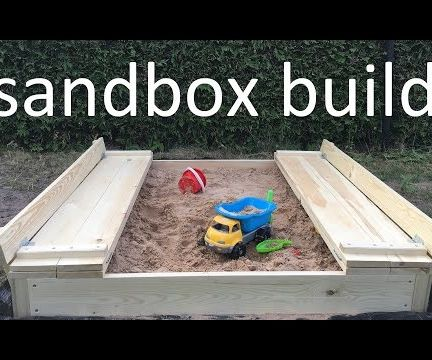 sandbox with lid and benches