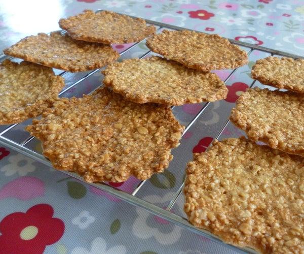 Oat Tuiles (Crispy Cookies) - Easy Recipe