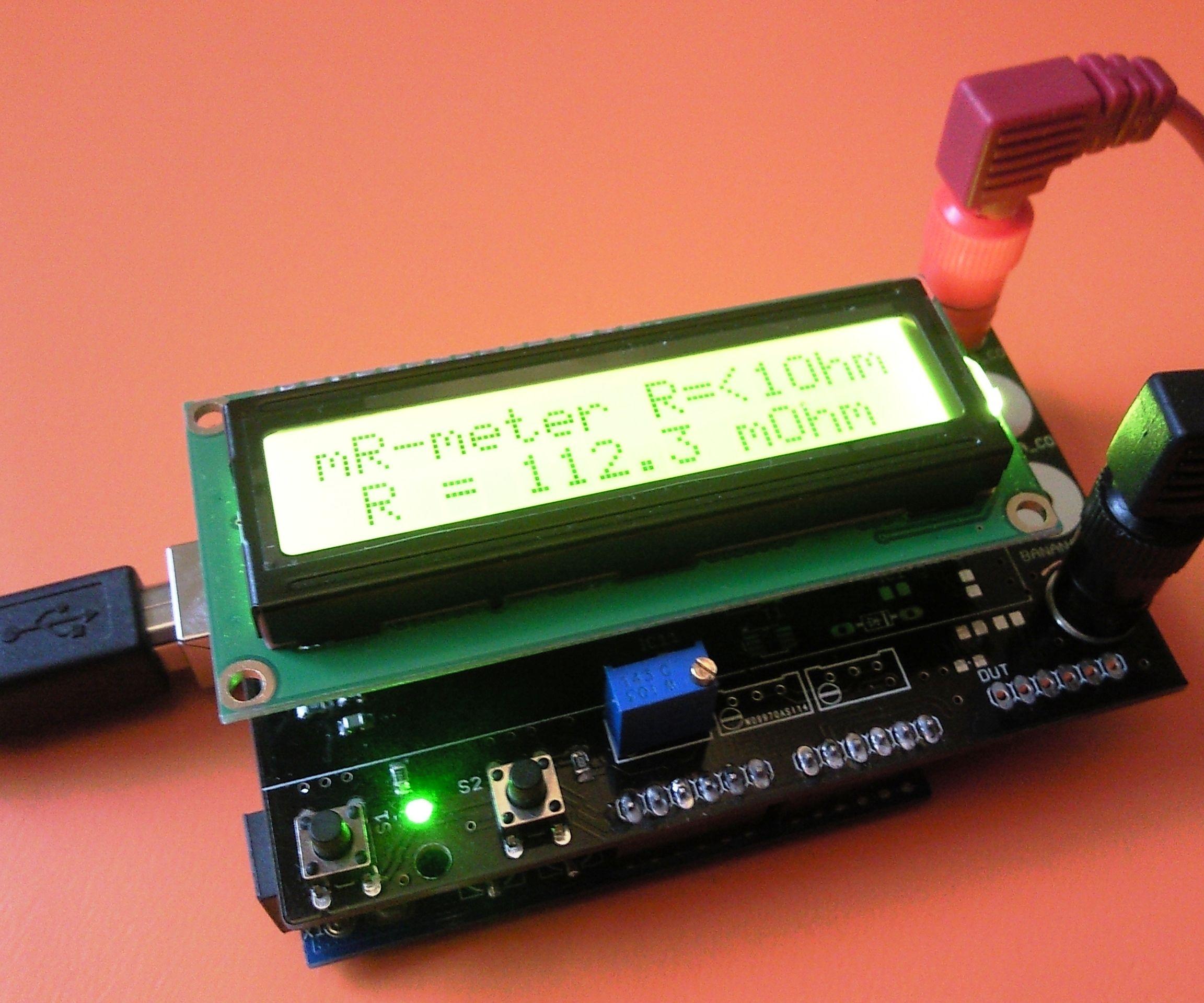 Miliohm-meter Arduino Shield - Addendum
