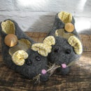 fabulously upcycled felt mouse slippers