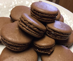 Double Chocolate French Macarons