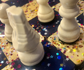 Magnetic Chess Board With Resin Art