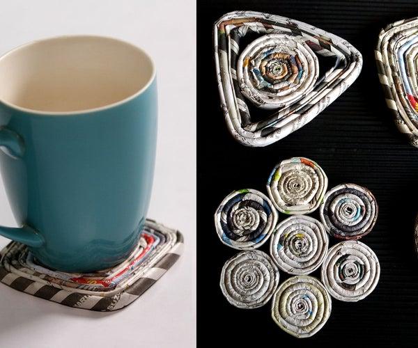 How to Make a Paper Coaster   DIY Newspaper Craft Tutorial