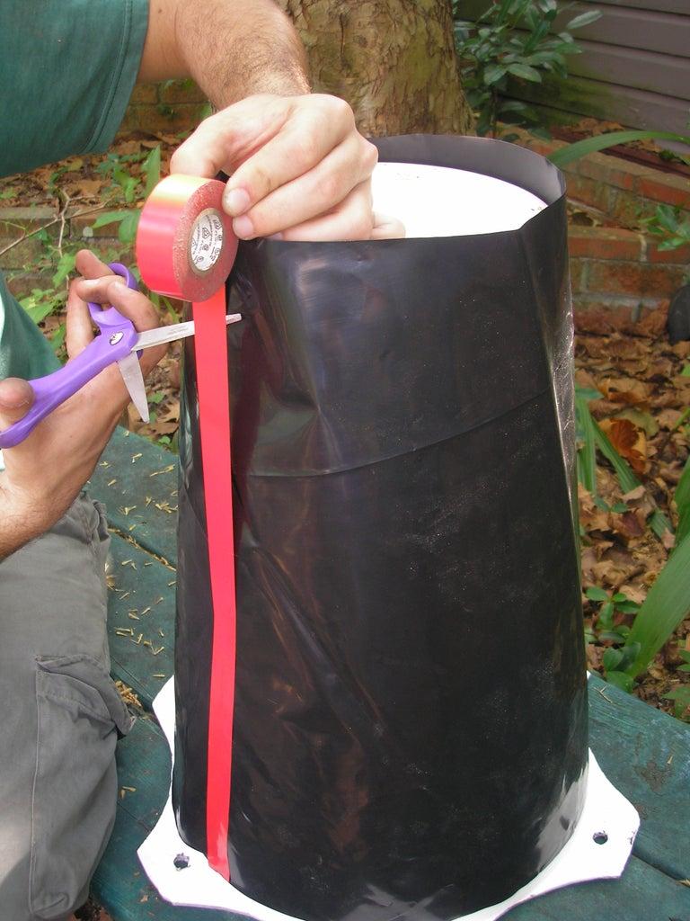 Prepping Plastic Liner
