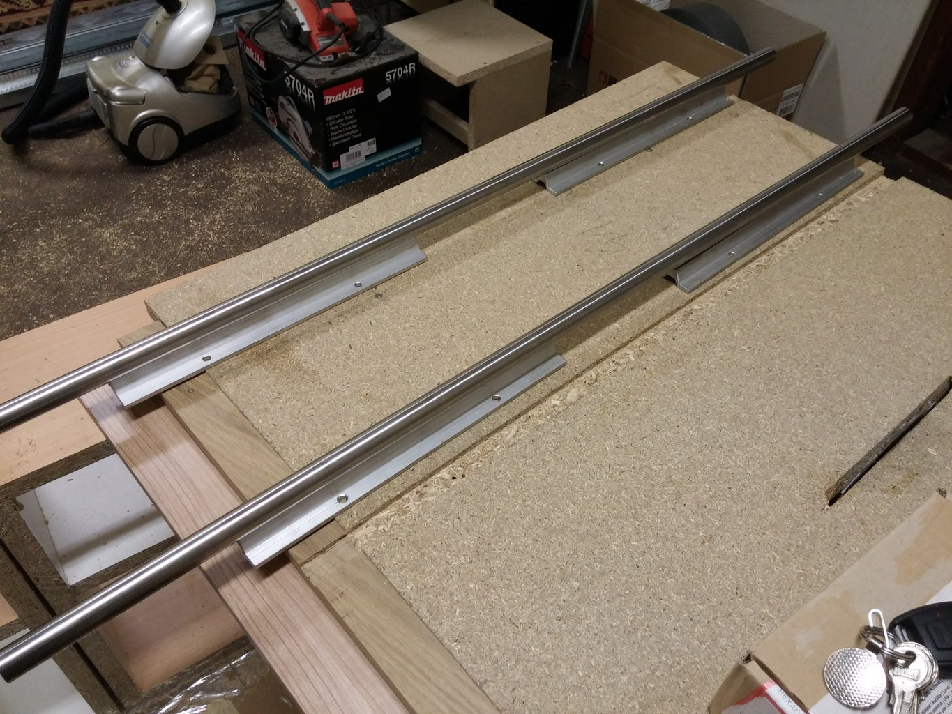 Aluminum Rails/rods With Support