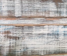 Rustic Paint Layering Accent Wall